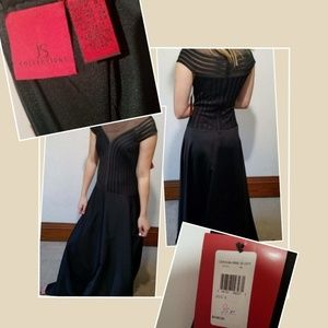 JS Collection NWT black long dress size 8